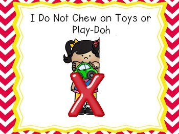 I Do Not Chew on Toys or Eat Play-doh Social Stories