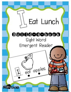 """I Eat Lunch"" Build-a-Book Sight Word Reader"