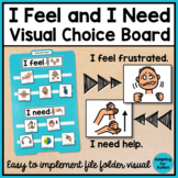 Behavior Management: I Feel and I Need Visual File Folder