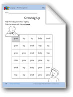I Grow and Change: Language and Math Activities