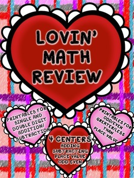 Math Practice for Second Grade - printables and centers