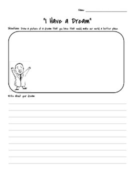 I Have Dream - Martin Luther King Jr. writing paper