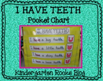 I Have Teeth Pocket Chart