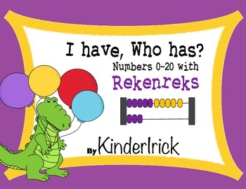 I Have... Who Has...? 0-20 with Rekenreks