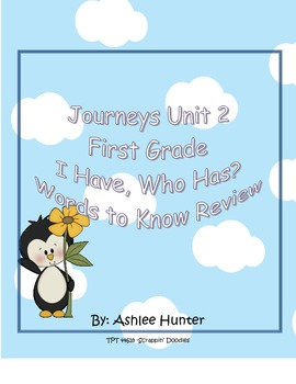 I Have, Who Has 1st Grade Journeys, Unit 2