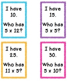 I Have Who Has 5s Multiplication