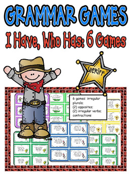 Reading Games: I Have, Who Has: 6 Games to Practice Langua