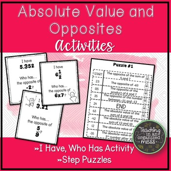 Absolute Value and Opposite Numbers