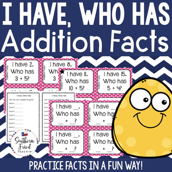 I Have, Who Has - Addition Facts