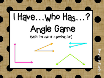 I Have Who Has Angle Game