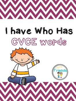 I Have Who Has CVCE Words