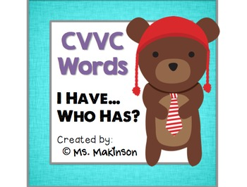 """I Have, Who Has?"" CVVC Words (Long Vowel Teams)"