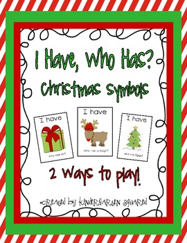 I Have, Who Has? Christmas Symbols Freebie