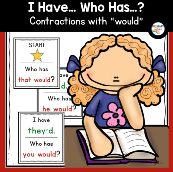 Contractions with Would: I Have... Who Has...?