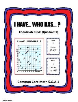 I Have Who Has (Coordinate Grids Quadrant I)