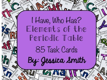 I Have, Who Has? Periodic Table of Elements
