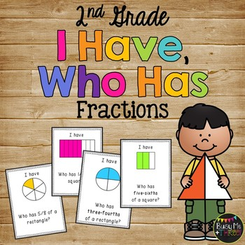 I Have Who Has FRACTIONS Halves, Fourths, Sixths, Eighths