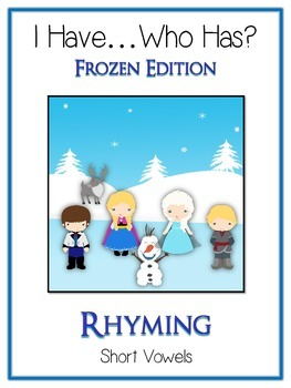 I Have Who Has FROZEN Princess Folder Game - Rhyming Words