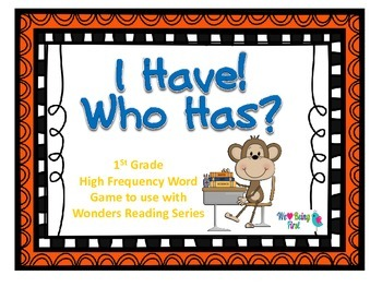 I Have Who Has - First Grade Wonders HFW Game
