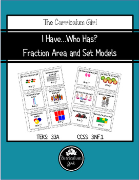 I Have…Who Has? Fraction Area & Set Models Cards (3.3A, 3.NF.1)