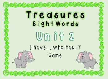 I Have, Who Has Game - 1st Grade Texas Treasures Unit 2 Si