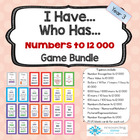 I Have Who Has Game Bundle Numbers to 12 000 PLUS Fractions