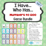 I Have Who Has Game Bundle - Numbers up to 1200 PLUS Fractions