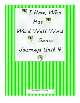 I Have, Who Has? Game - Journeys Kindergarten High Frequen