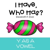 I Have, Who Has Game: Y as a Vowel