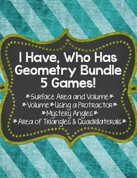 I Have, Who Has... Geometry Bundle {5 Different Games} Sav