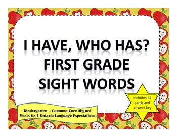 I Have, Who Has - Grade 1 Sight Words