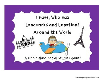 I Have, Who Has Landmarks and Locations Around the World