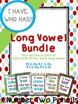 I Have, Who Has: Long Vowel Bundle