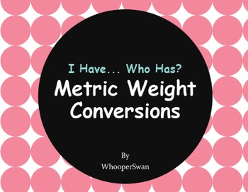 I Have, Who Has - Metric Weight Conversions
