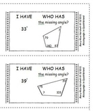 I Have Who Has - Missing angle in Quadrilateral
