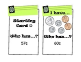 """I Have, Who Has?"" Money Game (CCSS - Adding Quarters, Dim"