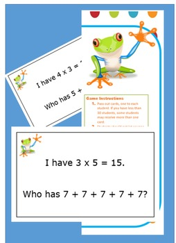 I Have Who Has ( Multiplying with repeated addition)