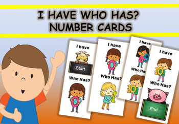 I Have Who Has? Number Cards