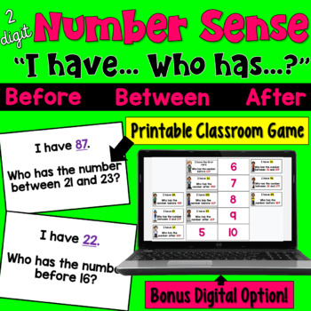I Have... Who Has:  Number Sense (Before, Between, & After