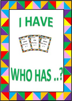 I Have ... Who Has ...? Number Words (& Blank Cards)