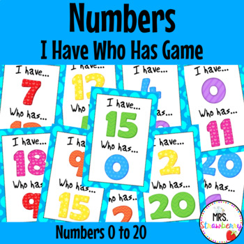 I Have Who Has - Numbers 0-20 {Number Recognition Game} Nu