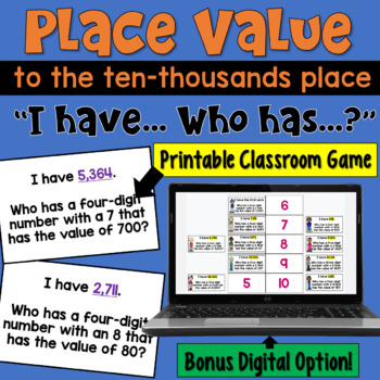 I Have... Who Has:  Place Value to the Ten Thousands  Whol