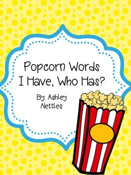 I Have, Who Has Popcorn Words