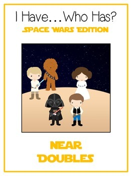 I Have Who Has - SPACE WARS - NEAR DOUBLES - Math Folder Game