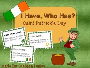 I Have, Who Has Saint Patrick's Day!