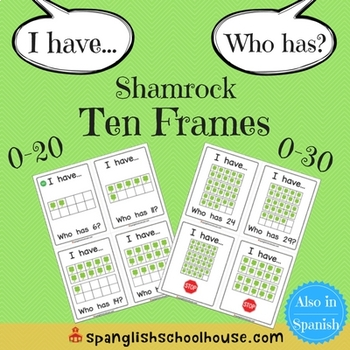 I Have, Who Has Shamrock Ten Frames