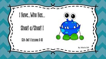 SRA Imagine It! 1st Grade  I Have, Who Has (Short a and Short i)