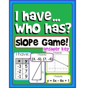 I Have, Who Has? Slope Game