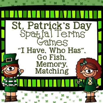 St. Patrick's Day Games for Spatial Terms