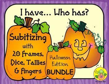 I Have. Who Has? Subitizing (Halloween)